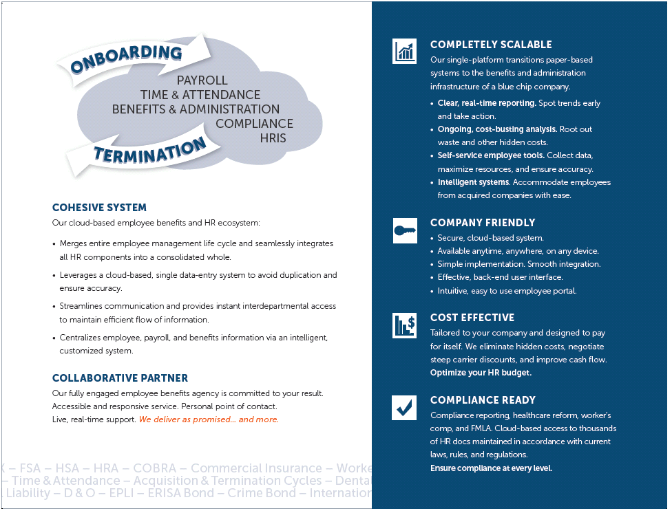 employee payroll and benefits brochure